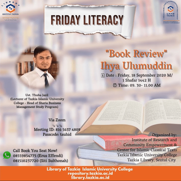 "Tazkia Friday Literacy ""Ihya Ulumuddin"" (Video)"