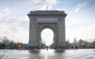 1 Decembrie, in pandemie: Fotografii impresionante de la ceremonia de la Arcul de Triumf, fara participarea publicului