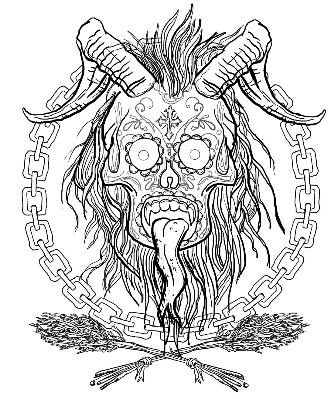 Krampus Coloring Page Coloring Pages