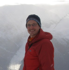 Tim Bartholomaus overlooking glaciers in West Greenland