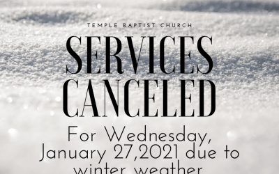 All Activities Canceled 01/27/21