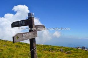 24 - Hallasan, Etelä-Korea Huge Passion for Life Hallasan, Etelä-Korea: Kuva on otettu kesällä 2015 Jejun saarelta sammuneen tulivuoren, Hallasanin huipulta 1900metrin korkeudesta. Etelä-Korean korkein vuori on suosittu turistinähtävyys Jejun saarella.