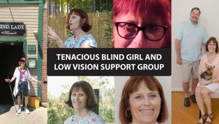 Photo collage of Tenacious Blind Girl