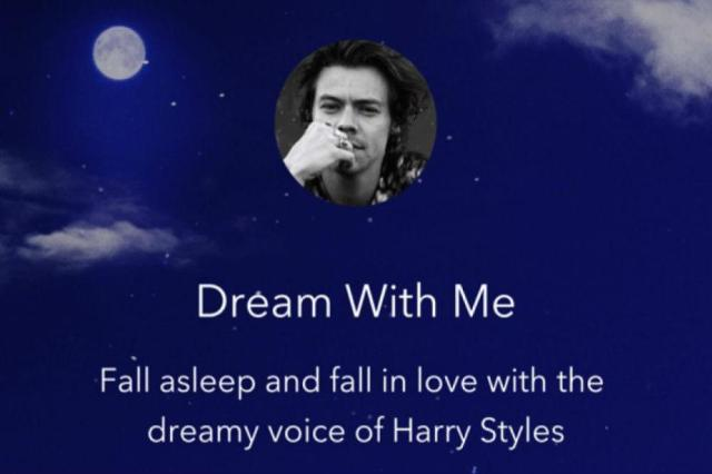 Dream with Harry Styles on the Calm App