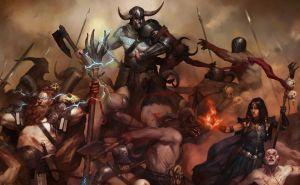"""""""Diablo IV,"""" an upcoming game from Blizzard Entertainment."""