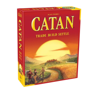 """Catan"" box art, game created by Klaus Teuber."