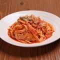 ベーコンと有機野菜のスパゲティーニ