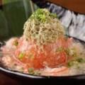 丸ごとトマトの揚げ出汁~蟹あんかけ~