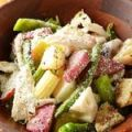 大和産と信州産焼き野菜とほぐし鶏むね肉のシーザーサラダ