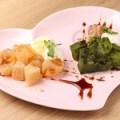 わらび餅 バニラアイス添え ~黒蜜がけ~きなこ味/ 抹茶味