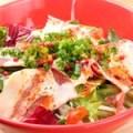 シャキシャキ葱と生ハムのシーザーサラダ