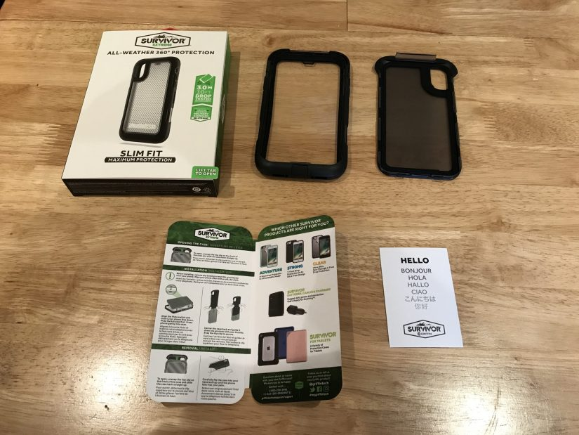 Griifin Survivor Extreme iPhone X Packaging