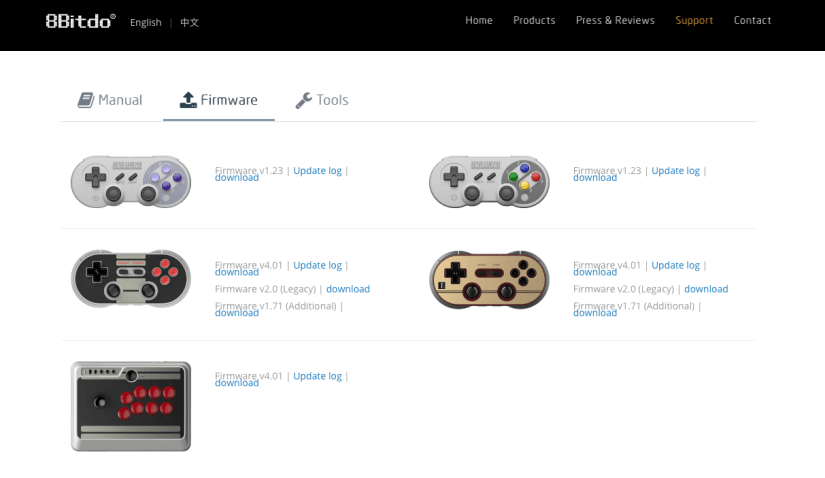 8BitDo Firmware Update Page