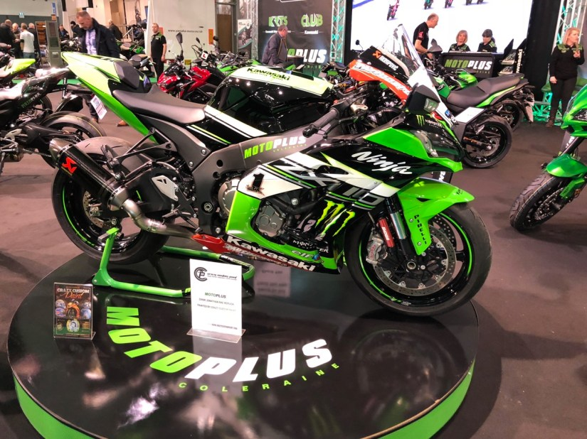 Crazy Custom Paint Jonathan Rea Replica at 2018 Northern Ireland Motorcycle Festival