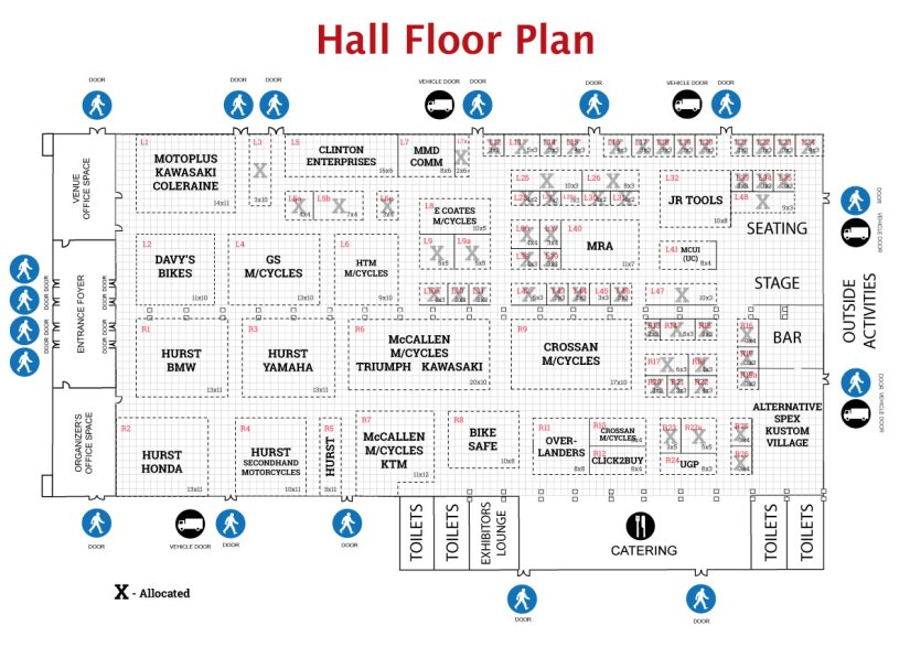 2019 NI MotorcycleFest Floor Plan