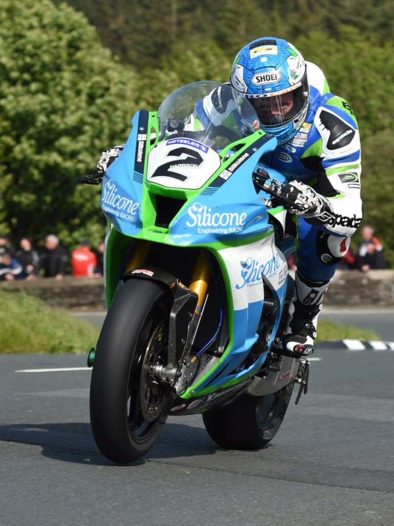 Dean Harrison on the way to his 2019 Dunlop Senior TT Win
