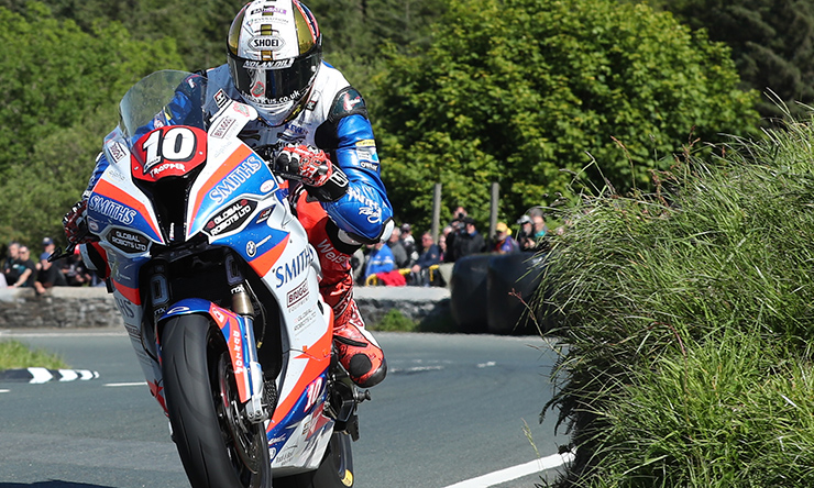 Peter Hickman at the Isle of Man TT Races