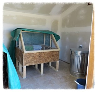 Interior with new brooder
