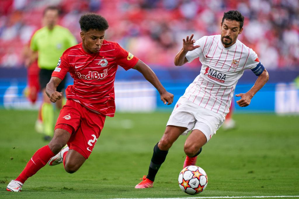 Karim Adeyemi in action for Red Bull Salzburg