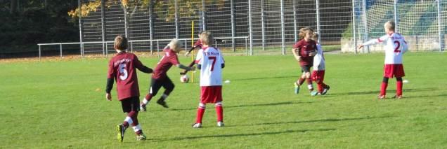 Die 2. Mannschaft der TB Ruit F-Jugend beim 4. Spieltag der Saison 2013/2014 in Altbach.