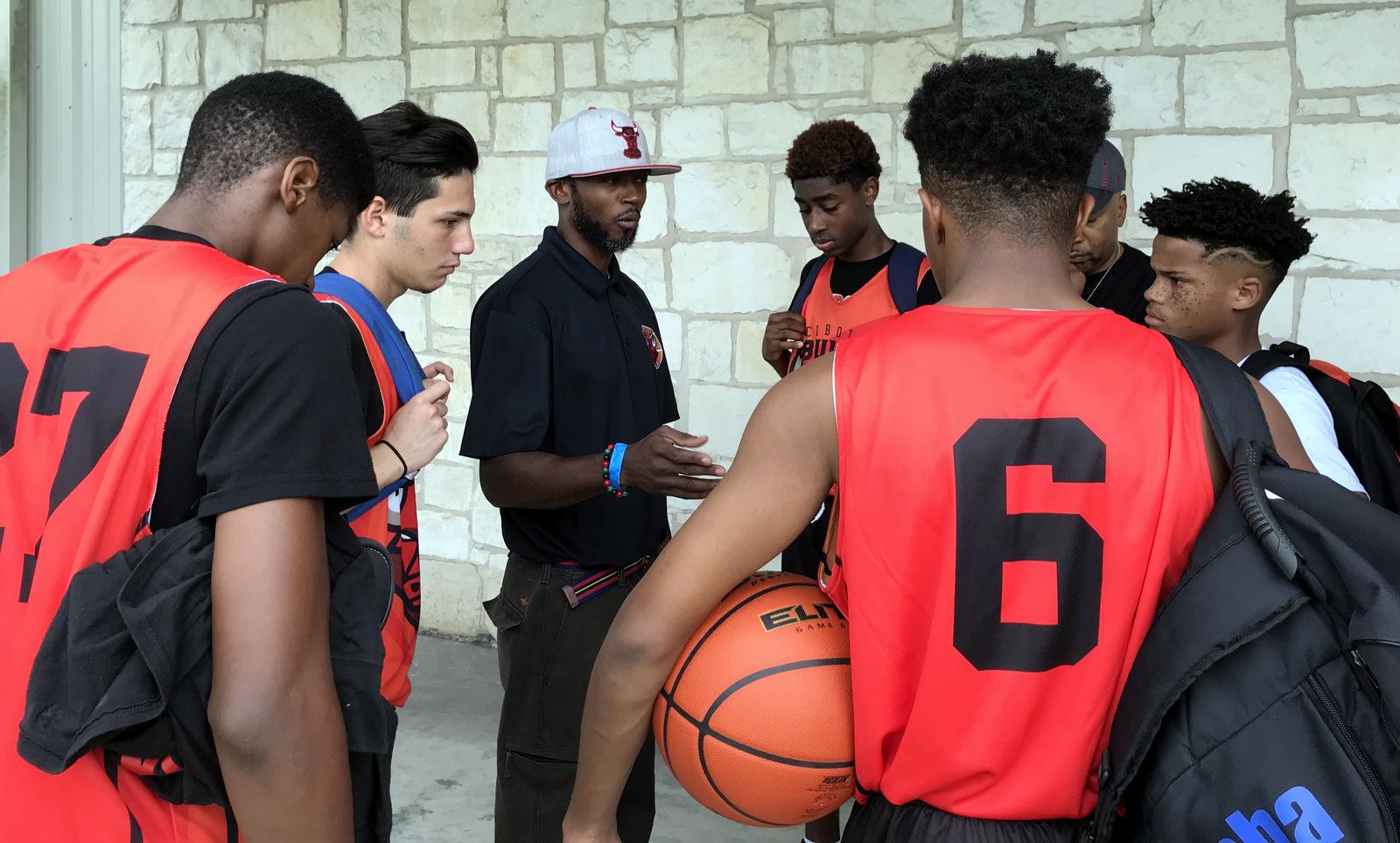Cibolo Bulls Basketball Group Huddle