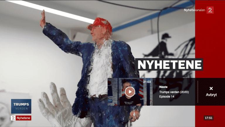 Trump skulptur av Skjølsvik
