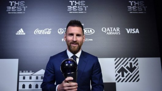 Image result for pic of messi win fifa best player