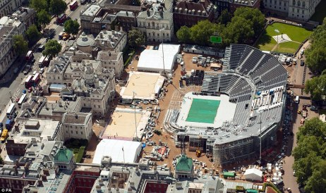 Target: The Beach Volleyball arena, on Horseguards' Parade is the only central London arena for the Games