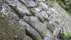Stonework eroded