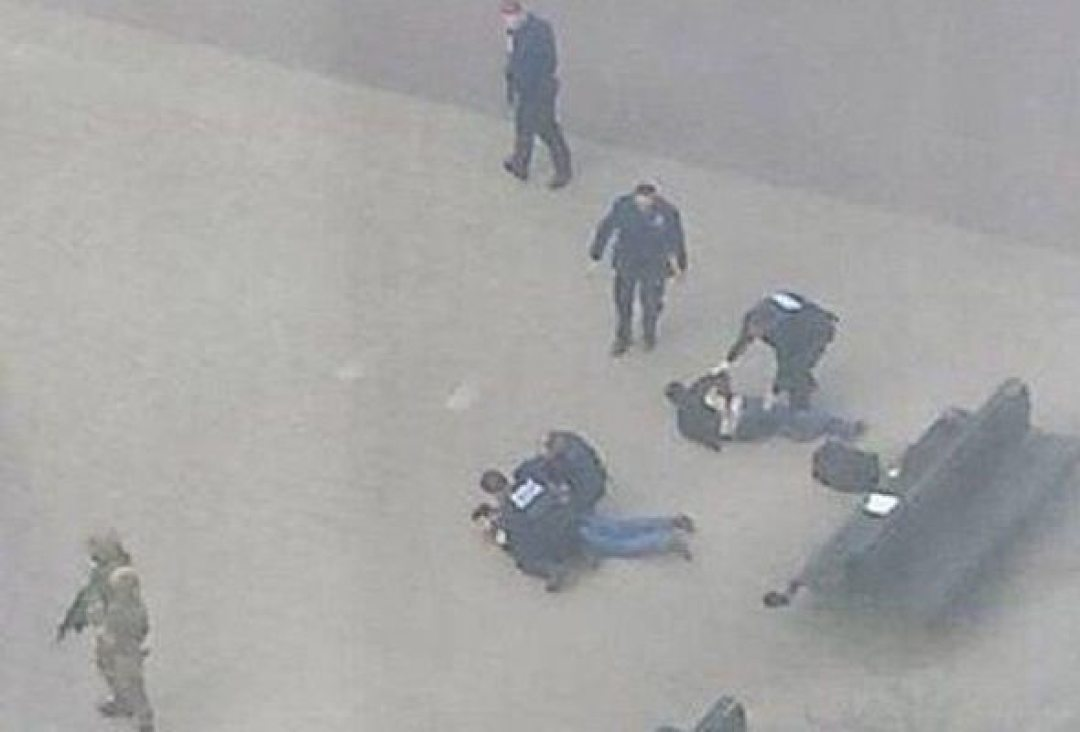 Two man where arrested near the metro station.