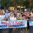 Podgorica, Montenegro – Women protests in front of Montenegrin Parliament