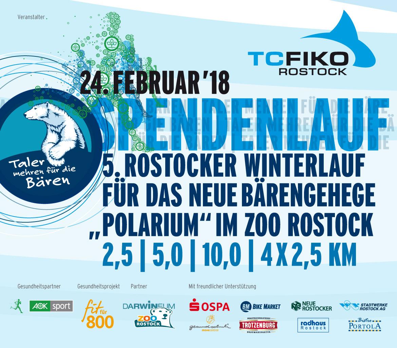 5. Winterlauf führt durch den Rostocker Zoo!