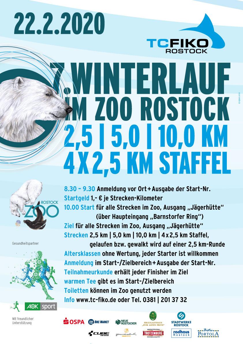 7. Rostocker Winterlauf im Zoo Rostock