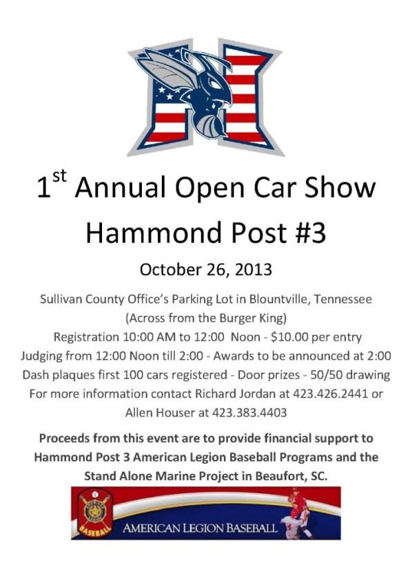 Hammond Post 3 1st Annual Car Show