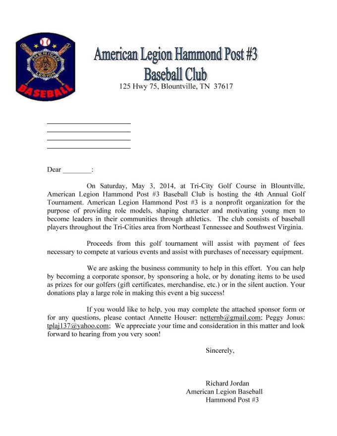 Baseball fundraising letter templates textpoems donation letter template spiritdancerdesigns Image collections