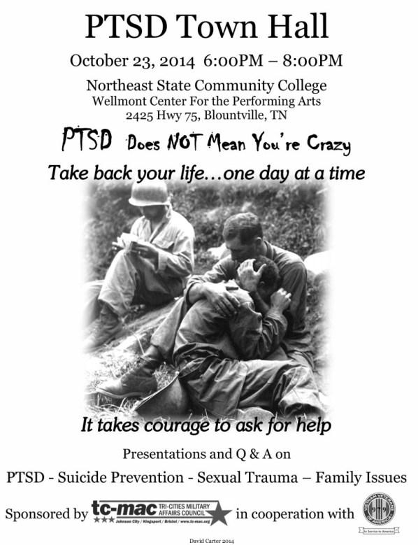 PTSD Town Hall Poster BW 2