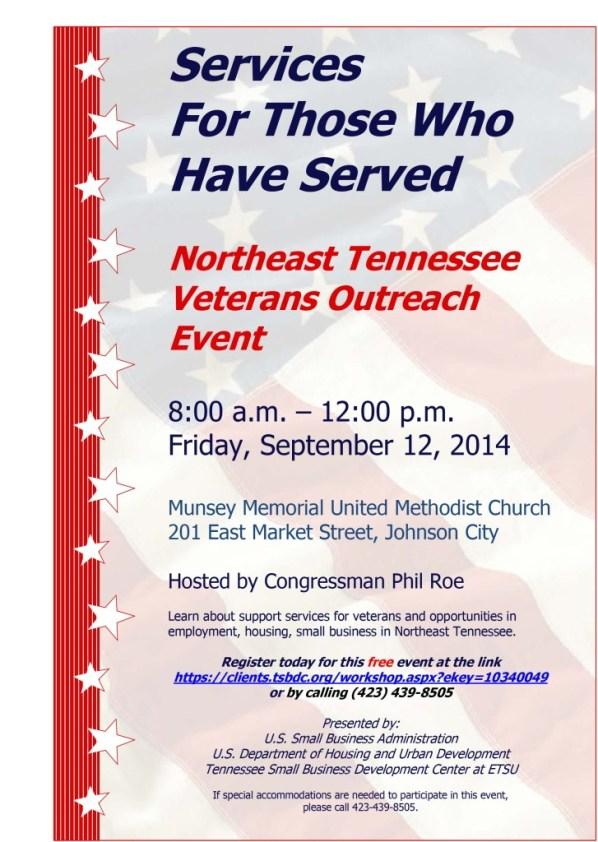 September 12 Veterans Outreach Event