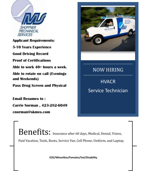 Now Hiring SMS Service Technician (1)
