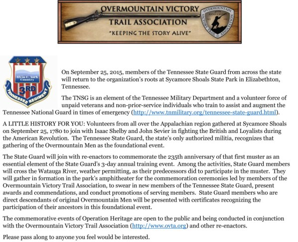 TN State Guard Overmountain Event (1)