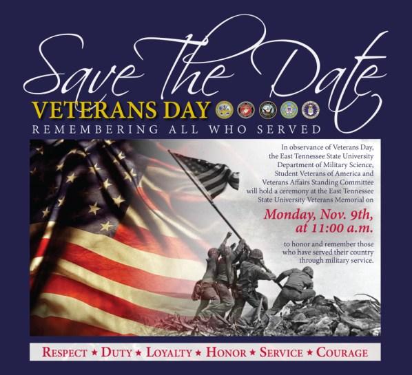Veterans Day ETSU 2015