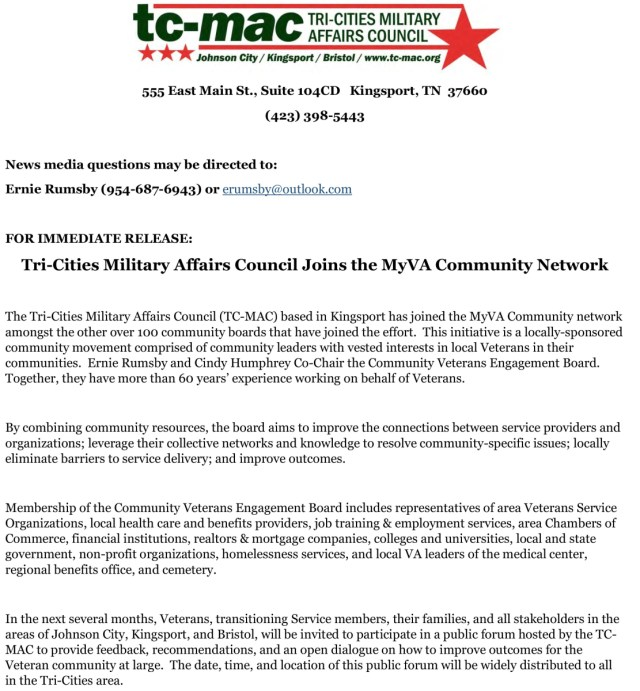 TCMAC joins the MyVA Community Network | Tri-Cities Military