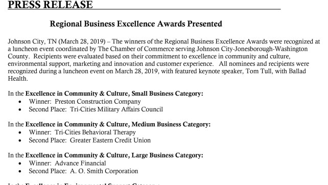 TCMAC at the Regional Business Excellence Awards!