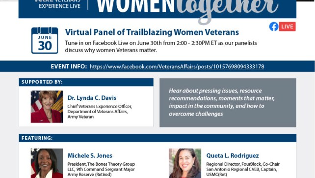 VetXL: Veterans Experience Live Women Together Event Panel on Facebook Live