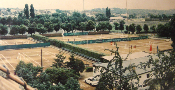Foto der Anlage des TC Weimar von 1979