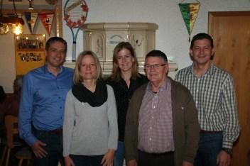 v.L.: Thomas Schlötzer, Sylvia Seideneder, Anne MAyerhofer, Norbert Holzmann, Michael Kreutmayr. Nicht auf dem Bild Simone Nagel