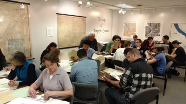 students research at The History Center