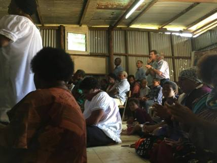 Church service with some of the MAF team in Mt. Hagen.