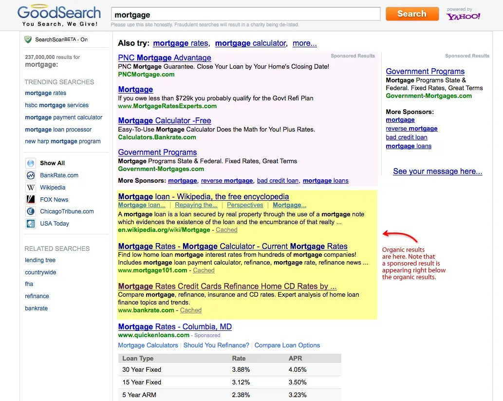 Finding Organic Search Results In The Search Engines