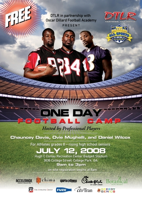 DTLR and NFL Players Host Free Football Camp July 12th, 2008