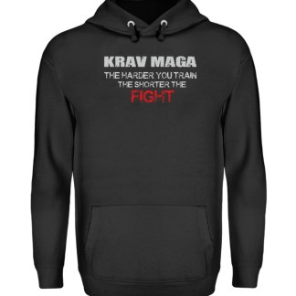 Krav Maga - The Harder You Train... - Unisex Kapuzenpullover Hoodie-1624